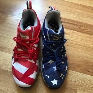 Puma Shoes - Puma Blaze of Glory RWB American Flag Sneakers 407a0d691